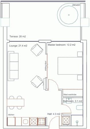 Appartement 4 personen Turkije
