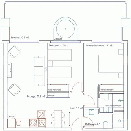 Appartement 6 personen Turkije